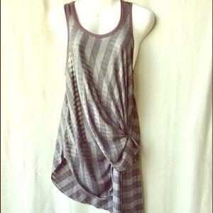 Free People Vertical Stripe Tank Dress, Small